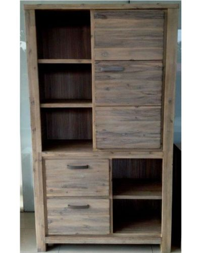 Newport WALL DISPLAY CABINET UNIT SOLID HARDWOOD TIMBER