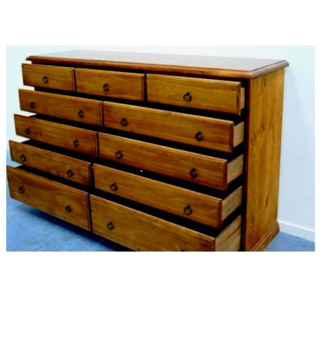Banksia Assembled Timber Tallboy Chest Of 1 5m 11 Drawer
