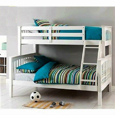 Sarah Single Double Bunk Bed Timber White Ab Fab Furniture Penrith
