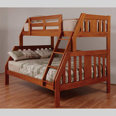 Double Single Troy Timber Trio Bunk Bed Ab Fab Furniture Penrith