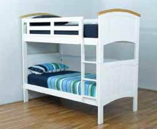 Bondi Ranch Single Timber Bunk Bed In White Ab Fab Furniture Penrith