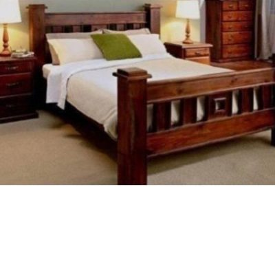 new arrival 85493 4df2a KING SIZE RUSTIC TIMBER BED FRAME ONLY | Ab Fab Furniture ...