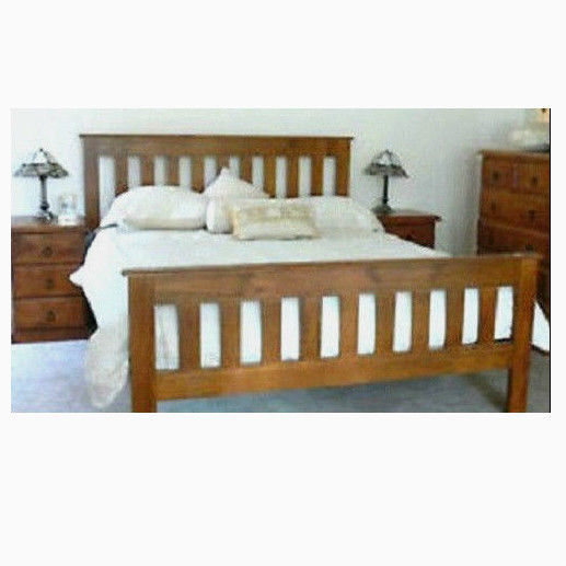 Banksia Queen Timber Bedroom Suite 1 X Bed Frame And 2 X