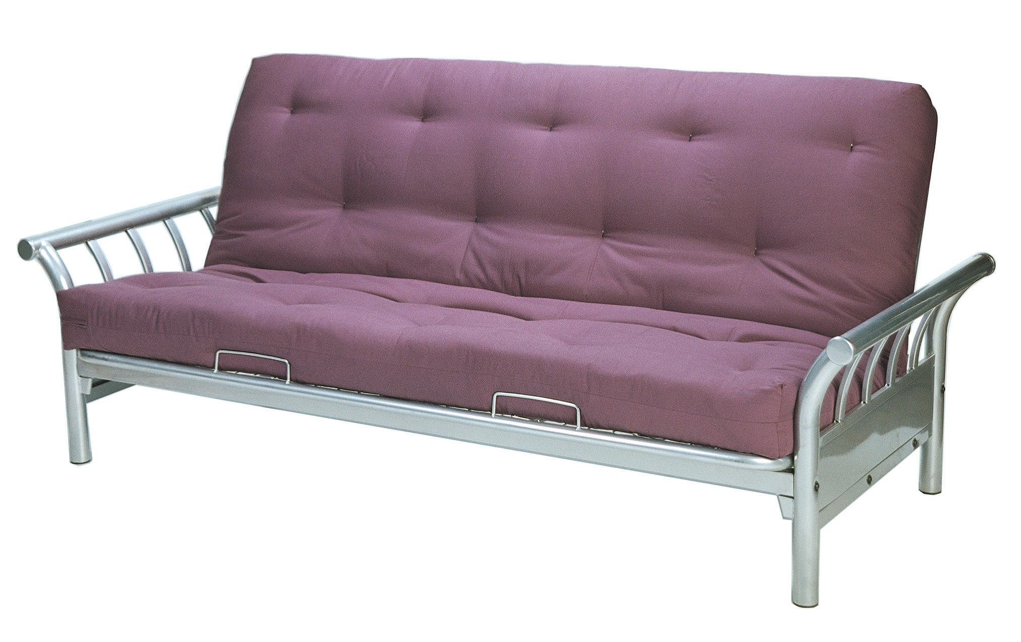Surf Double Futon Sofa Lounge Bed Frame Silver Quilted Futon Mattress Double Ab Fab Furniture Penrith
