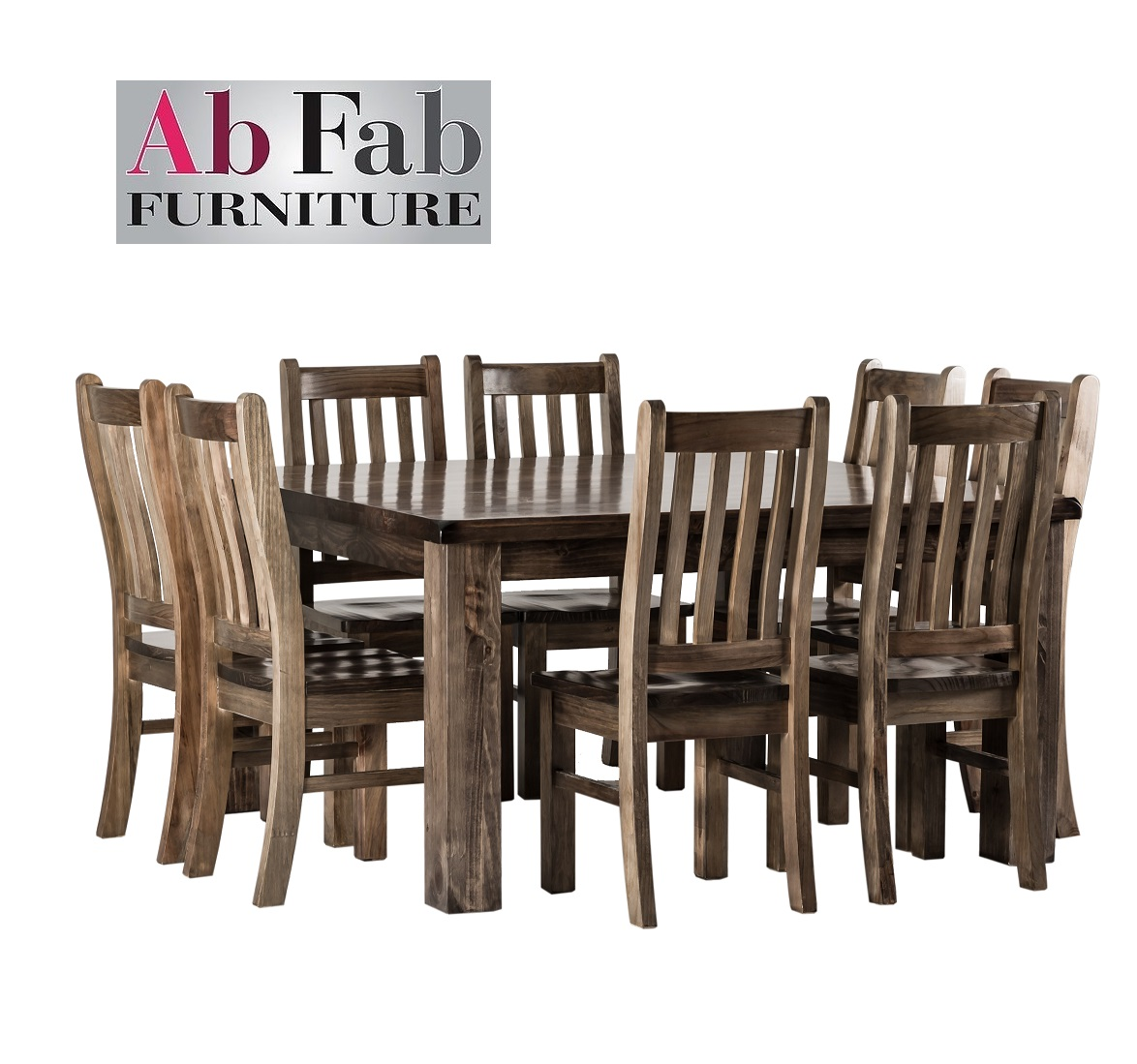 Barossa Square Dining Suite 9 Piece 1 X Table 8 X Chairs 1 5m Solid Timber Ab Fab Furniture Penrith