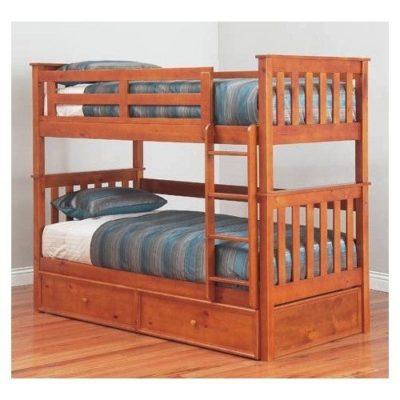 Jester King Single Bunk Bed Hardwood Timber In White Ab