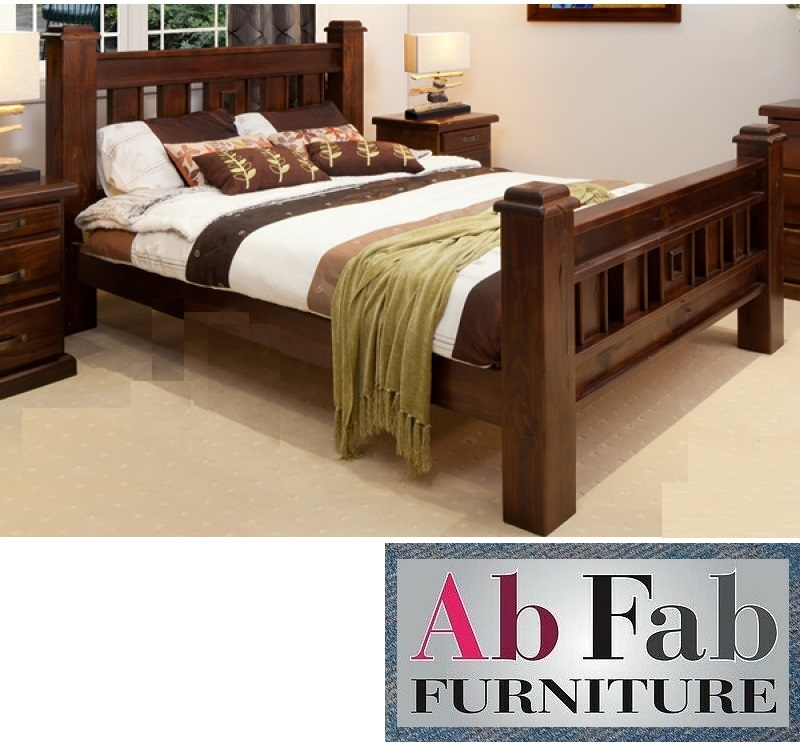 King Size Rustic Timber Bed Frame Only Phone 0435344775 Ab Fab