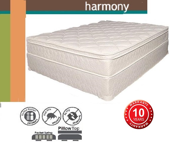 Harmony King Mattress Pillow Top Pocket Spring And