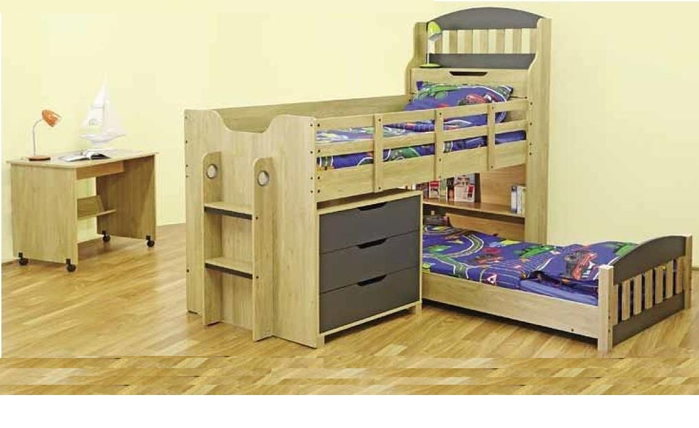 Toby Single Cabin Bunk Bed Loft Midi Sleeper Top Bed Only