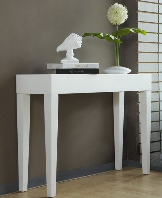 WAVERLEY HALL TABLE STAND CONSOLE WHITE GLOSS 100cm  9ce6b1353