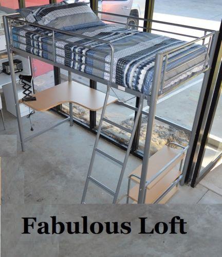 Melbourne Single Cabin Bunk Bed Loft Midi Sleeper Desk