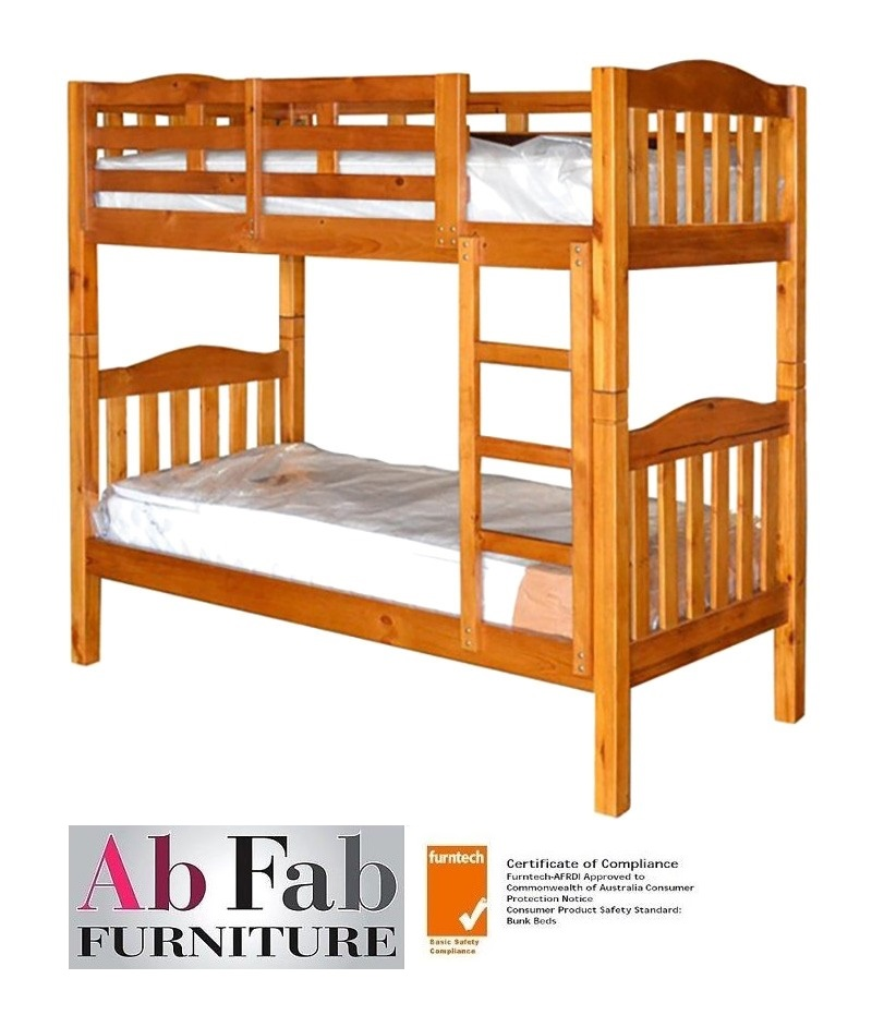 Adelaide King Single Timber Bunk Bed Only In Chestnut Enquiries Call 0435344775 Ab Fab Furniture Penrith